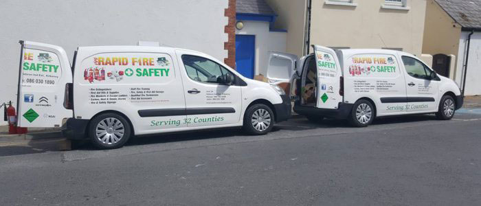 The Vehicles - Rapid Fire and Safety Ireland, Kilkenny, Carlow, Waterford, Wexford, Laois, Tipperary