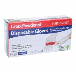 POWDERED LATEX DISPOSABLE GLOVES - A910