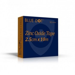 Blue Dot Zinc Oxide Tape 2.5cm x 10m
