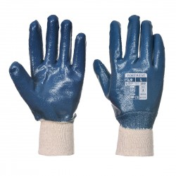 NITRILE KNITWRIST GLOVES - CARDED - RG30